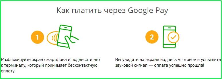 Как платить через Google Pay картой сбербанк