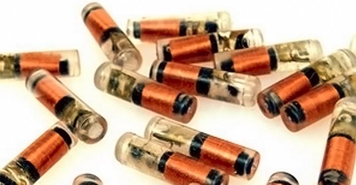 RFID метка в форме колбы или тубы