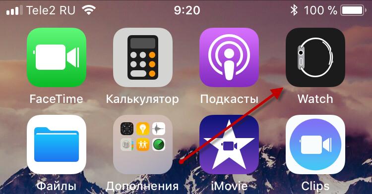 приложение  Watch на айфоне