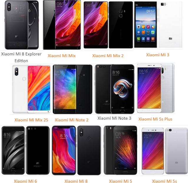 В каких телефонах Xiaomi есть NFC чип