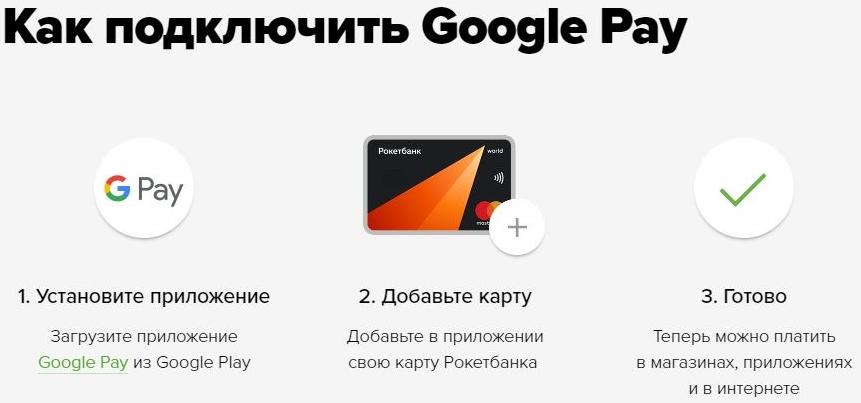 google pay как подключить