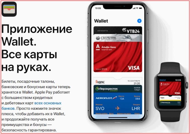 Apple Pay приложение валлет