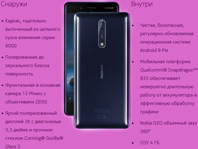 телефоны Nokia 8