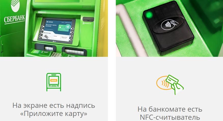 какие банкоматы сбербанка поддерживают бесконтактную оплату