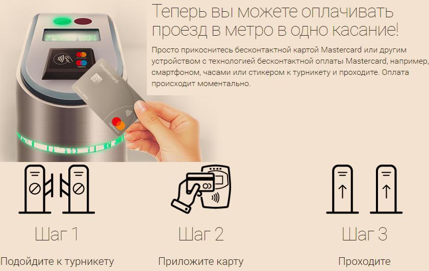 Как оплатить поездку картой MasterCard