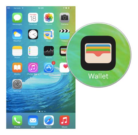 Через приложение Wallet добавить карту сбербанк