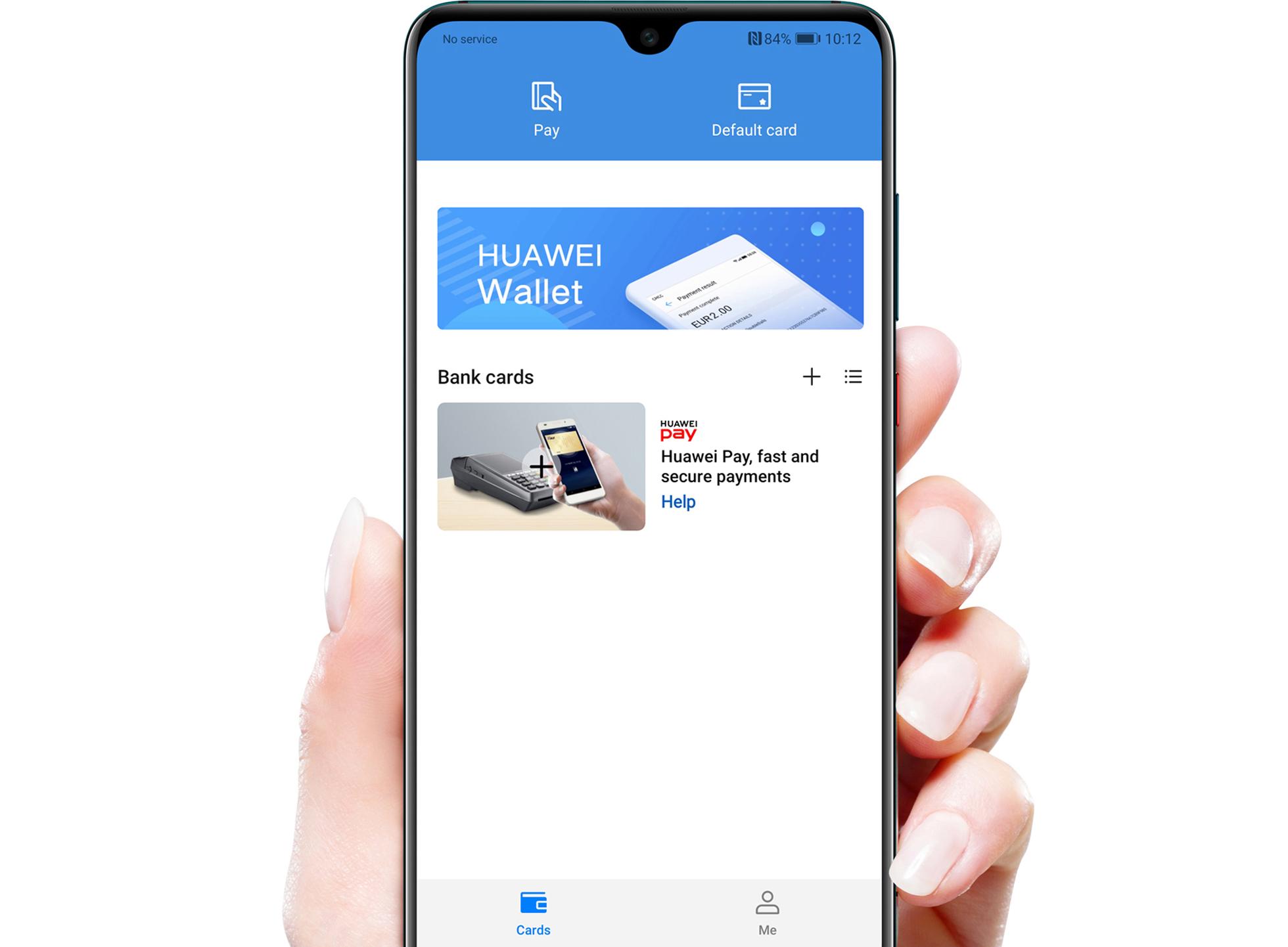Huawei Pay добавить карту