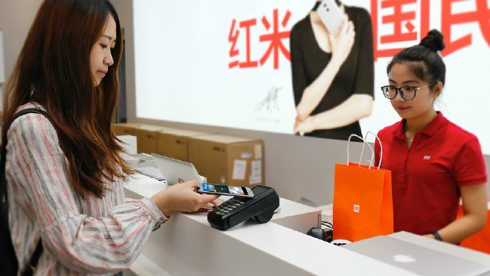 Mi Pay работает в китае