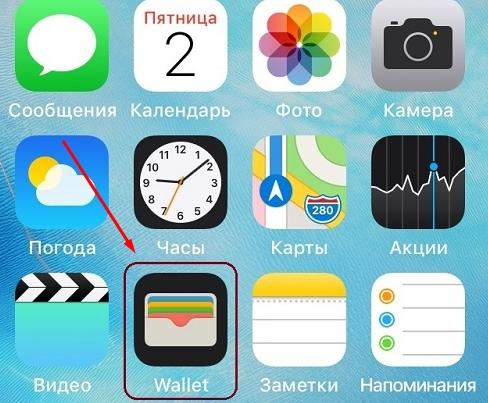 запуск приложения валлет на айфоне
